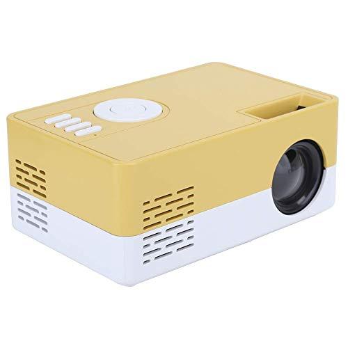 OHHG Proyector LED HD 1080P, Mini proyector Video Cine en casa Inteligente portátil 100 u2011240V, Altavoz Integrado, para Entrada Tarjeta Almacenamiento/AV/USB/HDMI, para Interiores/Exteriores
