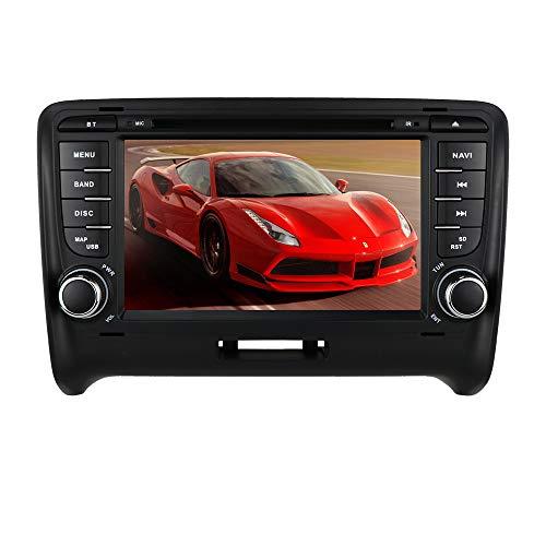 Ossuret Android 10 Radio estéreo para automóvil con Pantalla táctil de 7 Pulgadas Apta para Audi TT MK2 2006-2014 + TV Digital Opcional DVR OBD2 Dab + Soporte Control del Volante