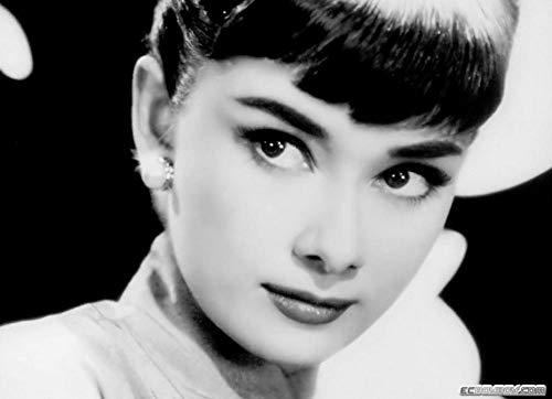 UYTRE Audrey Hepburn,Kit de pintura de diamantes 5D,DIY 5D Diamond painting diamantes de imitación de cristal, bordado de punto de cruz,para decoración de pared,(H-40 cm x M/B-60 cm)