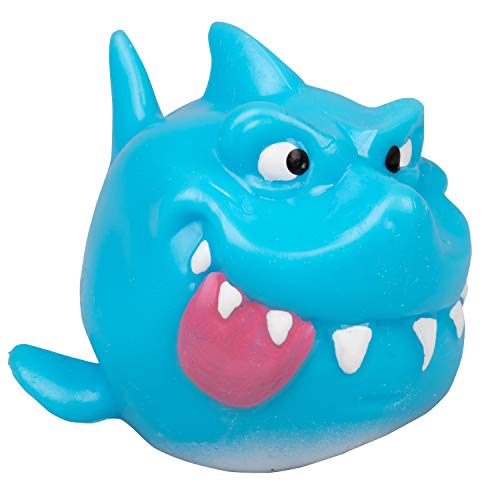 Hog Wild Sticky Shark - Squishy Toy Splats and Sticks to Flat Surfaces - Fidget Stress Ball - Age 4+