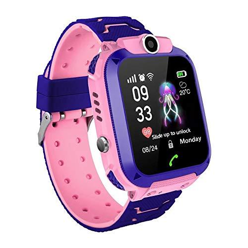 Doolland Reloj Inteligente Smartwatch para niños, rastreador de ubicación LBS, Reloj del teléfono, Reloj de cámara, Chat de Voz, Llamadas telefónicas