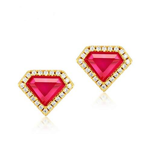 Pendientes geométricos para mujer, plata de ley 925, hipoalergénicos, regalos de San Valentín para mujeres