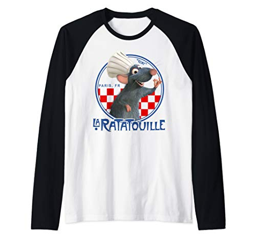 Disney Pixar Ratatouille Remy Chef Hat Portrait Raglan Baseball Tee