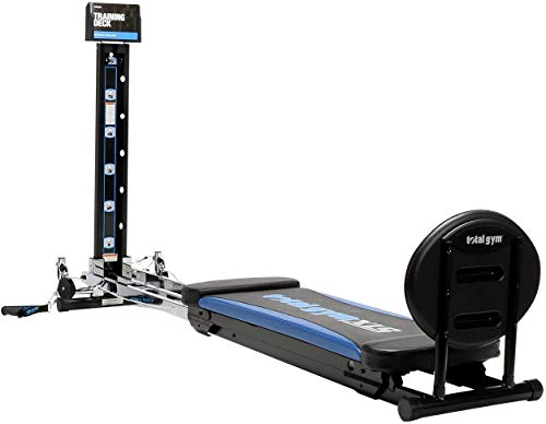 Product Image 5: Total Gym XLS Men/Women Universal Total Body Training Foldable Home Gym Workout Machine with Squat Stand, Leg Pull, 2 Ankle Cuffs, and Exercise Chart