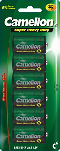 Camelion 10000614 Super Heavy Duty Batterien R14/ Baby/ 6er Pack