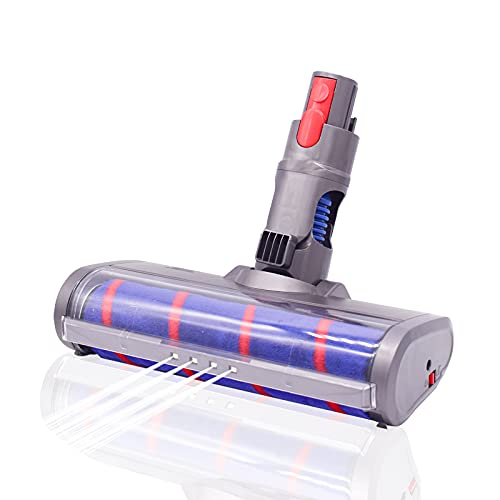 Coodss Fluffy Floor Soft Roller Head for Dyson V7 V8 V11V10 Cordless Stick Vacuum Cleaners Parts Hardwood Floor Attachment with LED Headlight