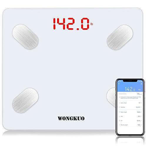 Bluetooth Smart Body Fat Scale WONGKUO 24 Key Body...