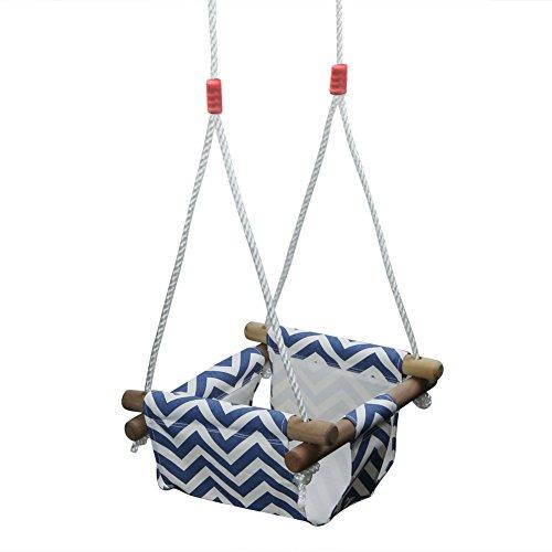 Pellor Kinderschaukel Schaukel für Baby Leinwand Kleinkindschaukel Hängesitz Outdoor Hängematte mit Einstellbare Seil