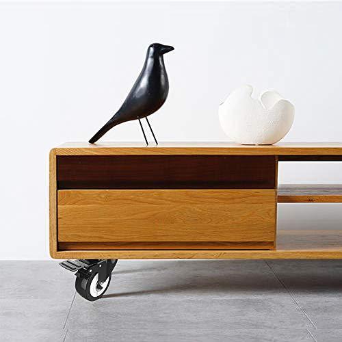 41EPbwf7sgL. SL500  - DOUYAO Ruedas para muebles,ruedas muebles,ruedas para palets,4 ruedas giratorias con función de frenado, ruedas de goma para muebles