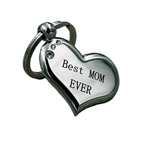 Best Mom Ever Keychain Unique Engraved Keyring for Mother