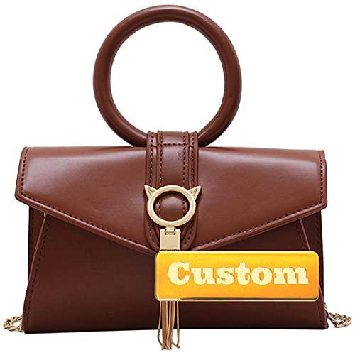 ZZMGDAM BAGNA Personalizzato for Cintura Corpo for Grazie BAGNA Cintura Cintura Cintura Cintura Rosa Bag BAGNA for Donna Nero (Color : Brown, Size : One Size)