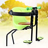 QIZHI Bicycle Front Safe Seat for Child Baby Kids,Front Mount Baby Carrier Seat Great for Adult Bike Attachment,Easy to Install,Green (Type1)