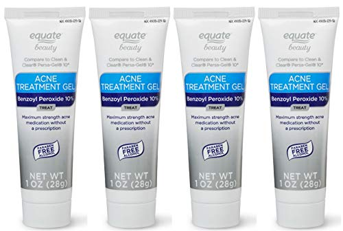 Equate Beauty 10% Benzoyl Peroxide Acne Treatment Gel, 1 Oz (2 count) (Pack of 2)