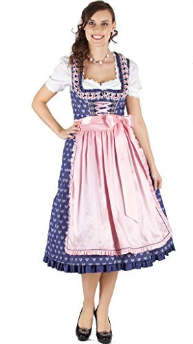 Krüger Feelings 70er Dirndl Gr 32 Blau Rose