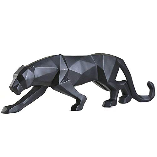 FJWYSANGU Abstract Leopard Statues Panther Sculpture Hand Craved...