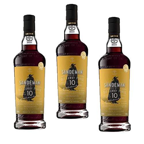 Vino de Oporto Sandeman 10 years 500ml - Vino Fortificado - 3 Botellas