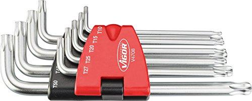 Vigor TORX Winkelschraubendreher-Satz V4708 ∙ Anzahl Werkzeuge: 9