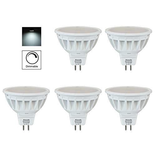 Aiwode 5W Dimmbar MR16 LED Lampe Gu5.3 Scheinwerfer,Kaltes Weiß 6000K Ersetzt 50W,500LM RA85 DC12V,5er Pack.
