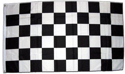 Flagge Zielflagge Schwarz Weiß - 60 x 90 cm