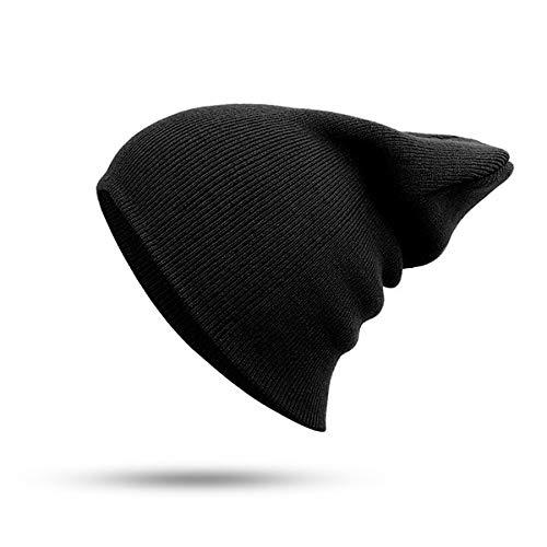 Gorro Unisex slido otoo e Invierno Gorro de Punto clido Suave Mezclado Gorro Skullcap de Mujer para Hombre Gorro de esqu Gorro 24 Frijoles de Color-Dark 2