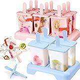 Moldes de helado, 13 moldes para helados, moldes para helados, moldes para helados de frutas, smoothie o yogur, polos reutilizables