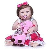 Yeah-hhi Réaliste Reborn Poupee 22Inches / 56Cm À La Main Main Soft Beau-Né Blue Yey Girl Dolls pour 3 Ans Et Plus De Jouets Cadeaux