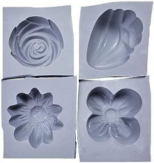Summer Flowers Rubber Molds, 4/pk