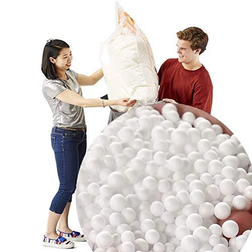 1 Large Bag (10 Cubic Feet) Bean Bag Booster Refill Polystyrene Beads Filling Top Up Bag Beans White Balls
