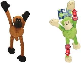 Sherpa GoDog Set of 2 Large Mr. Monkey Dog Toys Chew Guard Technology