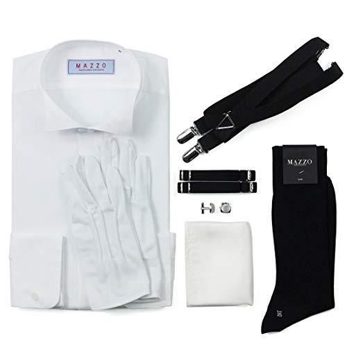 新郎 タキシードセット 小物 シャツ付き7点セット ベーシック 結婚式 披露宴【E】