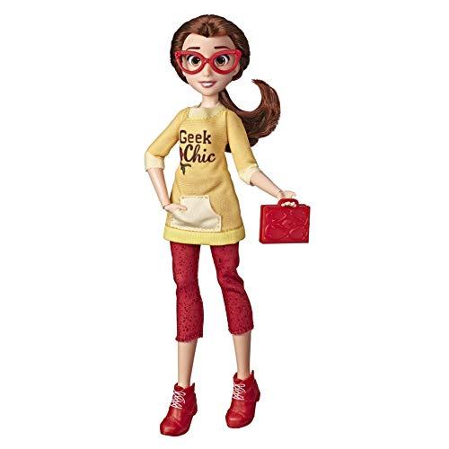 Disney Princess Comfy Squad Belle, Puppe zum Film Chaos im Netz mit Freizeit-Outfit und Zubehör