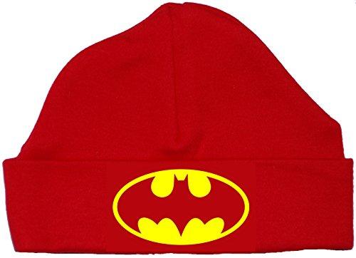 Acce Products Chapeau/Bonnet de Beanie Bat Baby - 3-6 Mois - Rouge