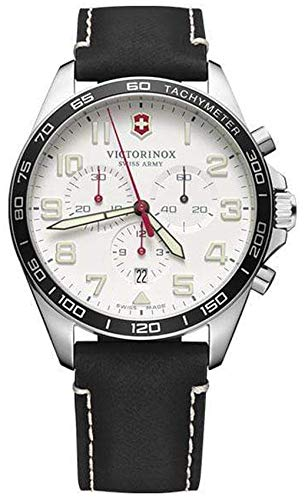 Victorinox Field Watch Reloj para Hombre Analógico de Cuarzo con Brazalete de Piel de Vaca V241853