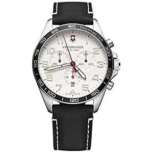 Victorinox Field Watch Reloj para Hombre Analógico de Cuarzo con Brazalete