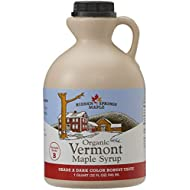 Hidden Springs Maple Organic Vermont Maple Syrup, Grade A Dark Robust (Formerly Grade B), 32 Ounce, 1 Quart, Family Farms, BPA-free Jug