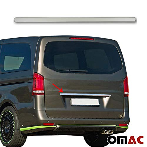 OMAC Kofferraumleiste Heckleiste für Vito W447 2014-2019 aus Edelstahl Chrom