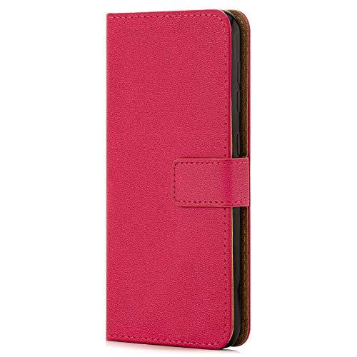 zanasta Ledertasche kompatibel mit Huawei Honor View 20 / V20 | Schutz-Hülle Flip Hülle Magnetverschluss Wallet Pink