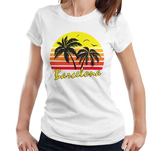 Cloud City 7 Barcelona Vintage Sun Women's T-Shirt