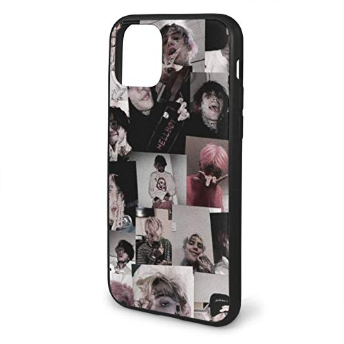 Fashion888 Lil Peep Rip Simpsons Memory Compatible para iPhone 11 12 Pro MAX XR XS MAX 6/7/8 Plus SE 2020 Funda para teléfono Negra Funda para teléfono móvil