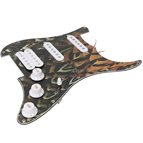 Juego de pastillas Pickguard, pastilla cargada, fácil instalación, perillas integradas, pickguard cargado, sonido claro, regalo casero para guitarra eléctrica,(Peacock pattern)