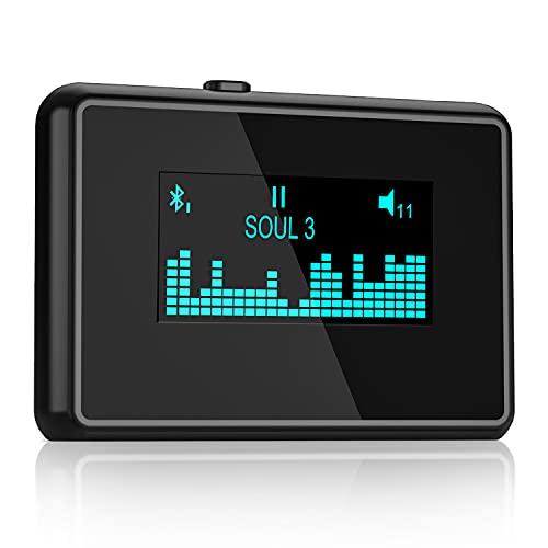 ZIOCOM Adaptador Bluetooth Receptor 30 Pin para iPod Bose SoundDock y Otros Altavoces de Base 30 Pin, Pantalla LCD Única, Batería incorporada, Soporta 2 Dispositivos Simultáneamente(No para Coche)