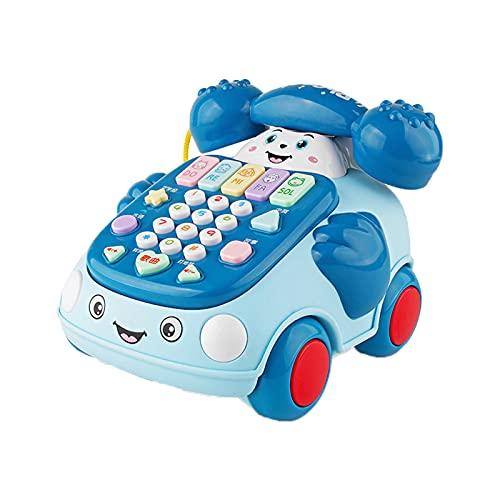 SM SunniMix Máquina de Historias telefónicas para niños pequeños Juguetes educativos Juego de Sonido Tocar el Piano Llamar a Tirar Juguete Educación temprana - Azul Medio