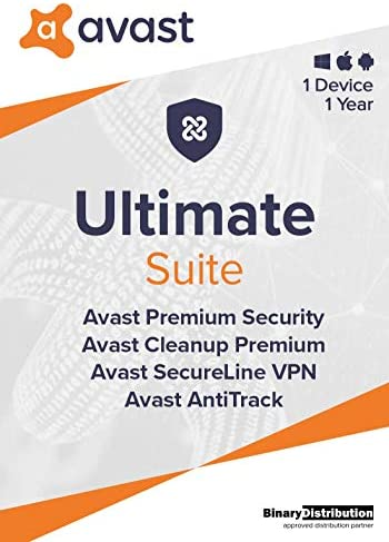 Avast Ultimate 2021, 1 Device 1 Year, Antivirus+Cleaner+VPN+AntiTrack, [PC/Mac/Android] [License]