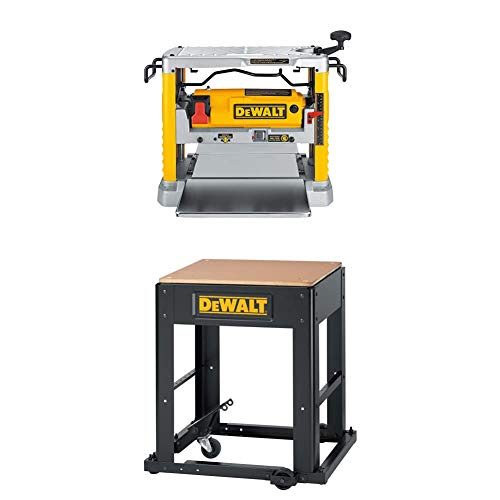 DEWALT DW734 15 Amp 12-1/2-Inch Benchtop Planer with Planer Stand with Integrated Mobile Base