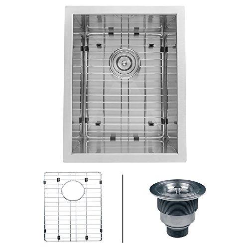 Ruvati 14-inch Undermount 16 Gauge Zero Raduis Bar Prep Kitchen Sink Stainless Steel Single Bowl - RVH7110