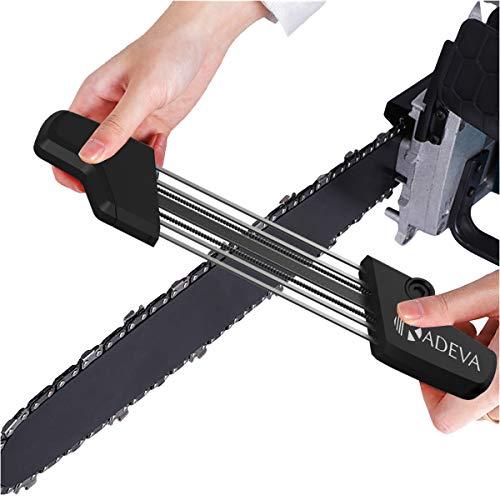 Affila catena motosega Kit 2 in 1 strumento professionale affilatura rapida dei denti della catena e calibro di profondità affilatrice catena motosega affilacatene