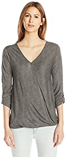 Paper + Tee Women's V-Neck Draped Top