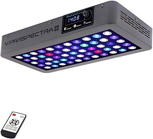 VIPARSPECTRA Timer Control 165W LED Aquarium Light Dimmable Full Spectrum for Coral Reef Grow Fish Tank