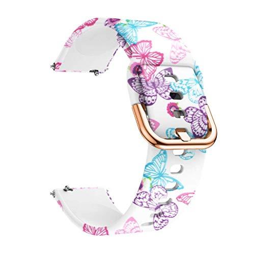 Correas para Relojes, Hanyixue Compatible con Samsung Galaxy Watch 42mm/Active 40mm, Pulsera de Repuesto Correa de Silicona para Hombres, Mujeres (C)