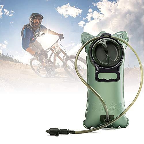 Poche à eau 2L avec système anti-fuite pour sport, vélo, camping, escalade, randonnée XXL GREEN